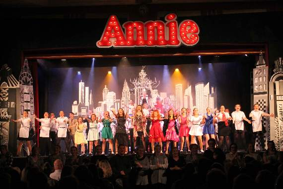 Brynteg school pupils stage a sell-out show of Annie!