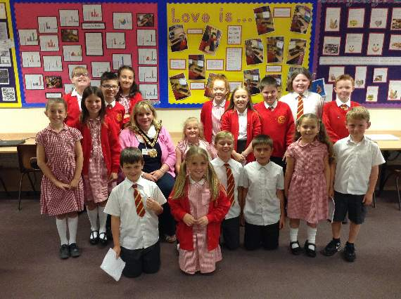 School visit for Mayor of the Vale