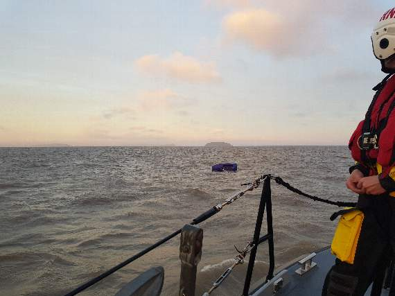 Lifeboats race to rescue after boats capsize near Penarth