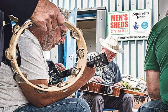 Open day at the Men's Shed in Tondu. Meet the members of the Squirrel's Nest.