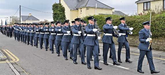 RAF St Athan's Freedom of the Vale exercised in Llantwit Major
